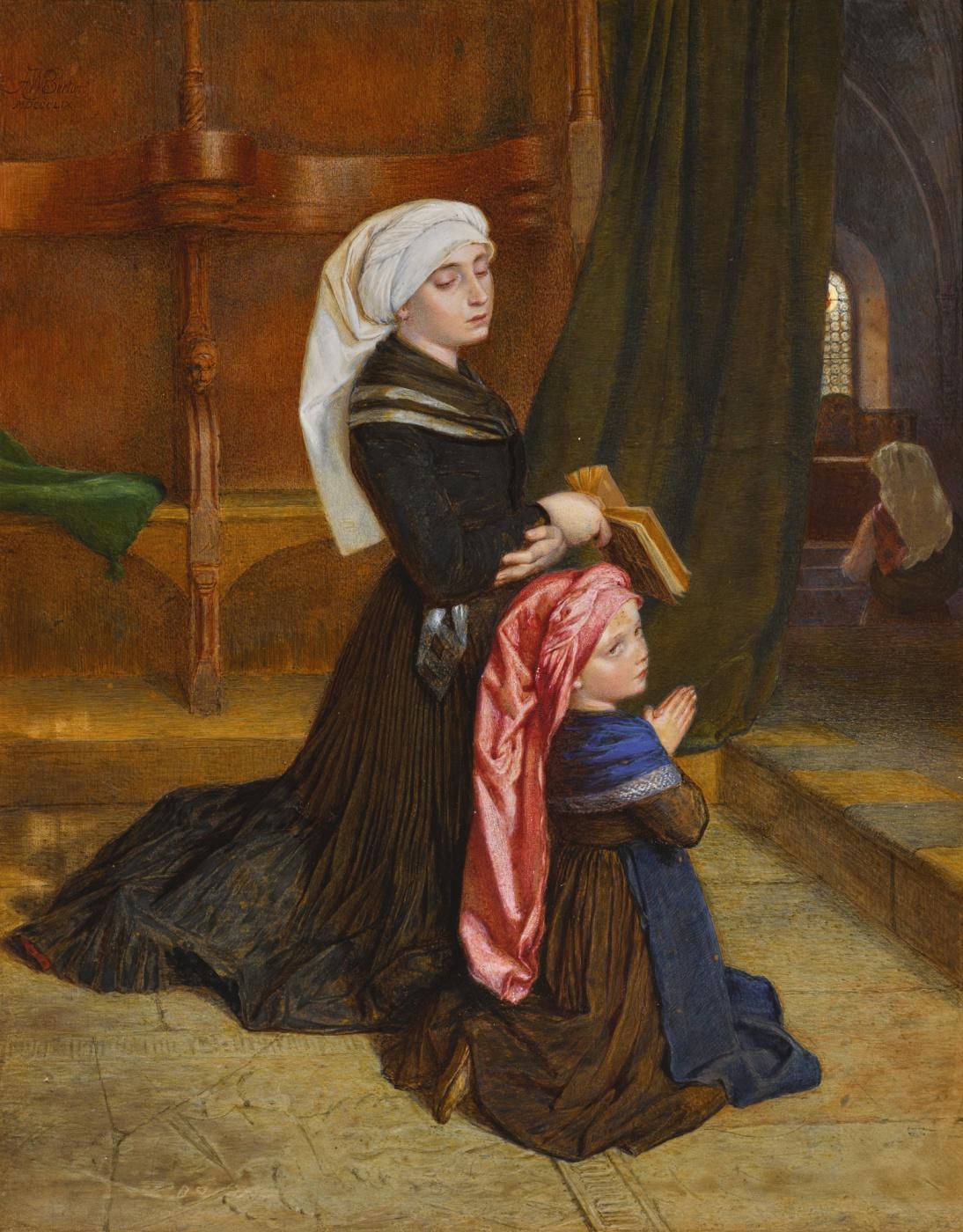 Frederick William Burton. Wolm's widow