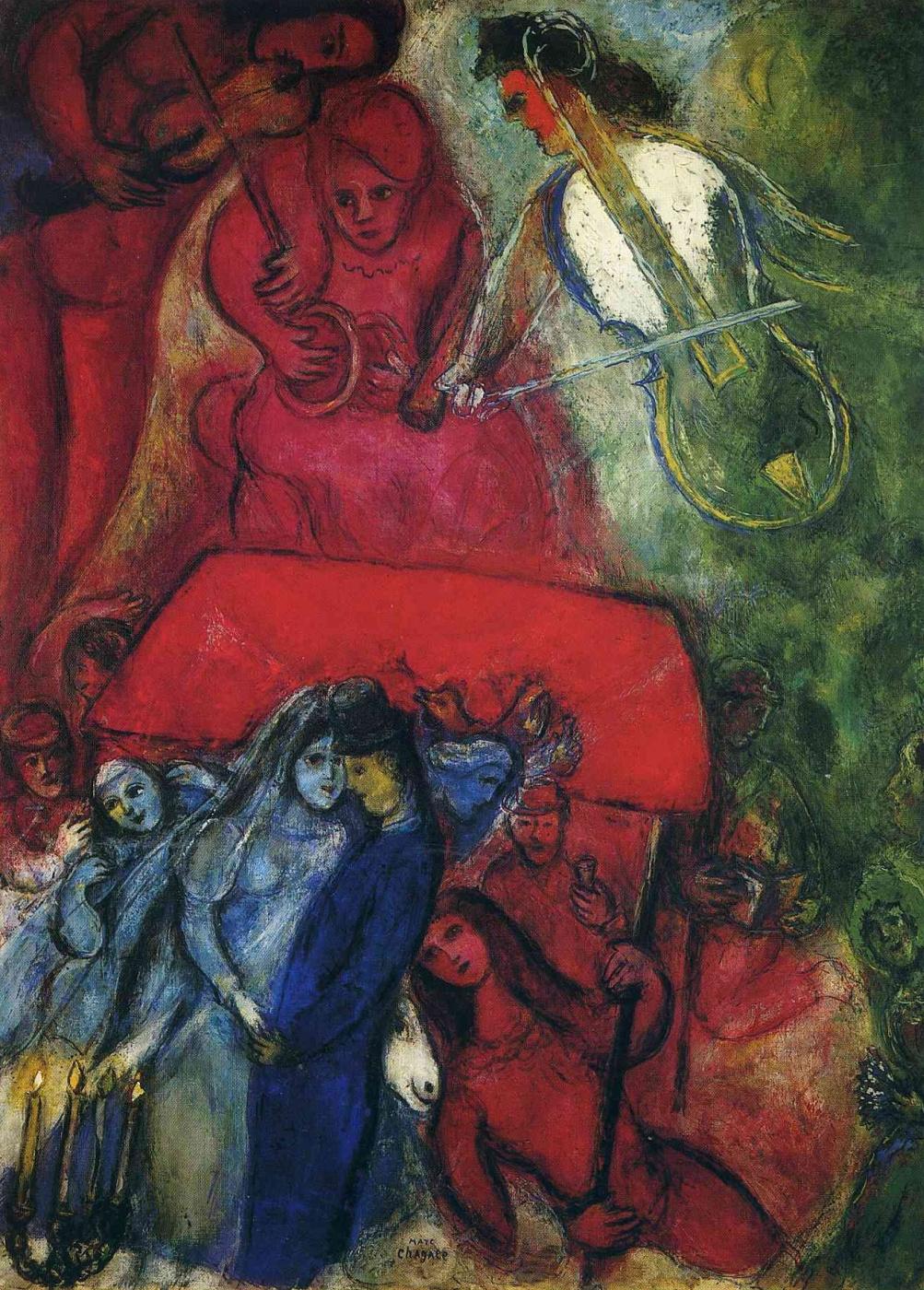 Marc Chagall. Wedding