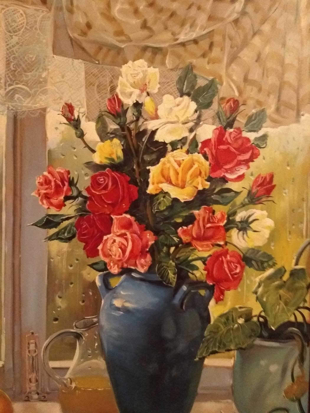 "Alexander Grigorievich Serdyukov. ""Still life with a vase"""