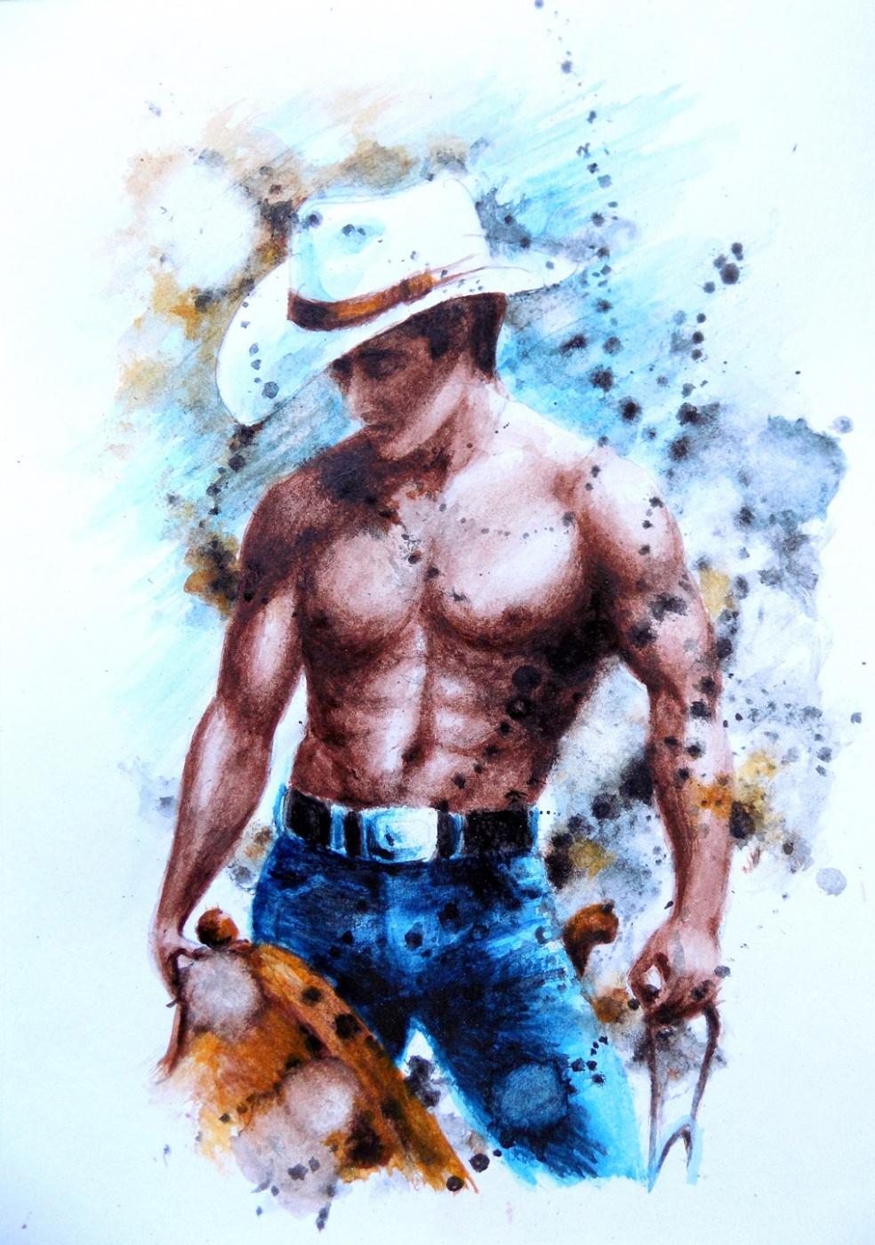 Alex Visiroff. Romantic cowboy