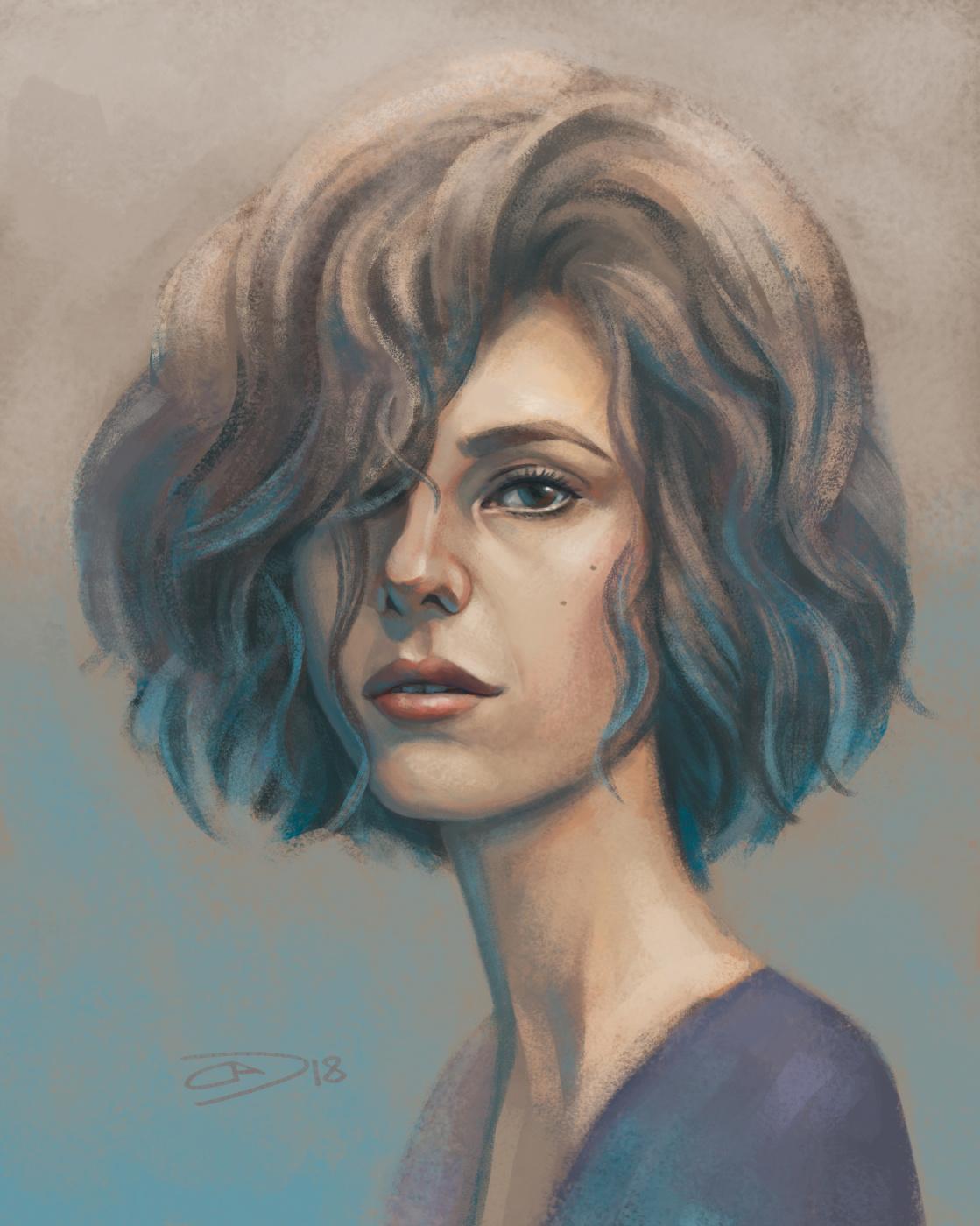 Alexander Dmitrievich Svistunov. Portrait of a girl