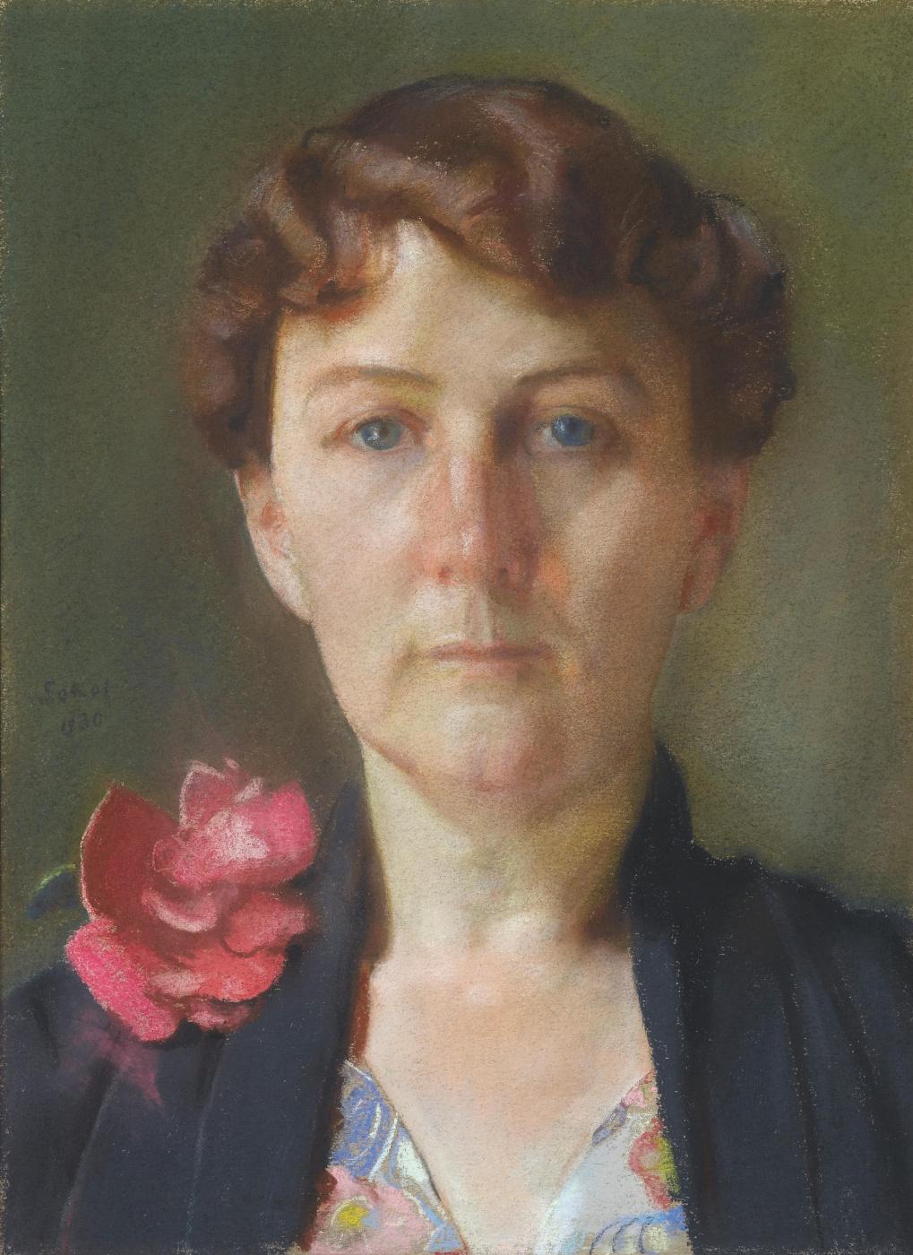 Konstantin Somov. Portrait of a lady