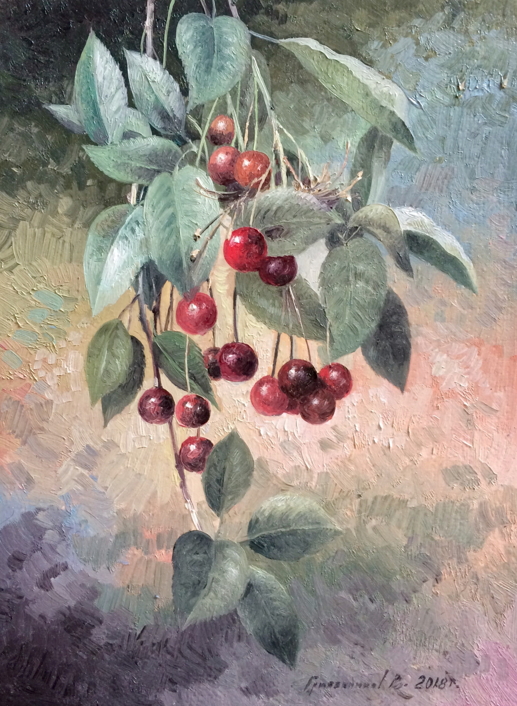 Vasily Ivanovich Gribennikov. Cherry branch