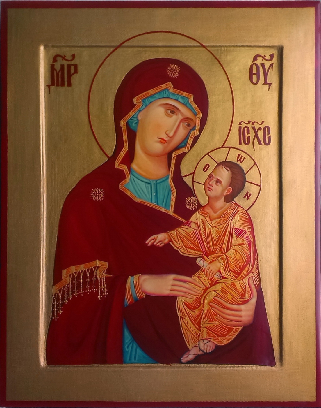 Gennady Alekseevich Stepanov. Icon of the Mother of God Hodegetria.