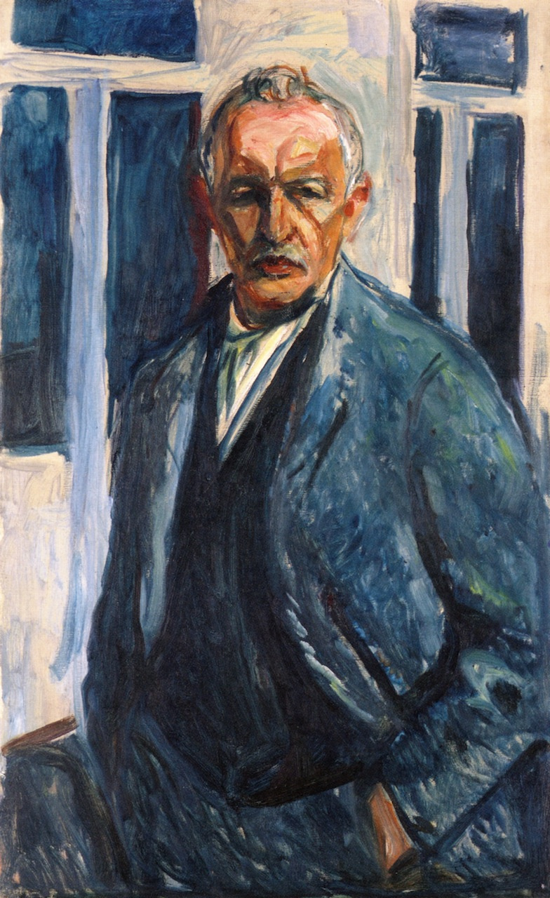Edvard Munch. Self-portrait with hands in pockets