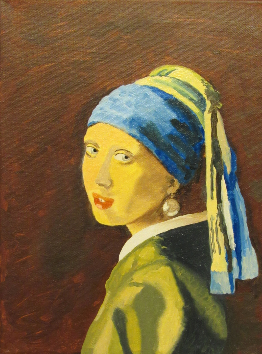Artashes Badalyan. Vermeer. Girl with a pearl earring (copy) - hm - 40x30