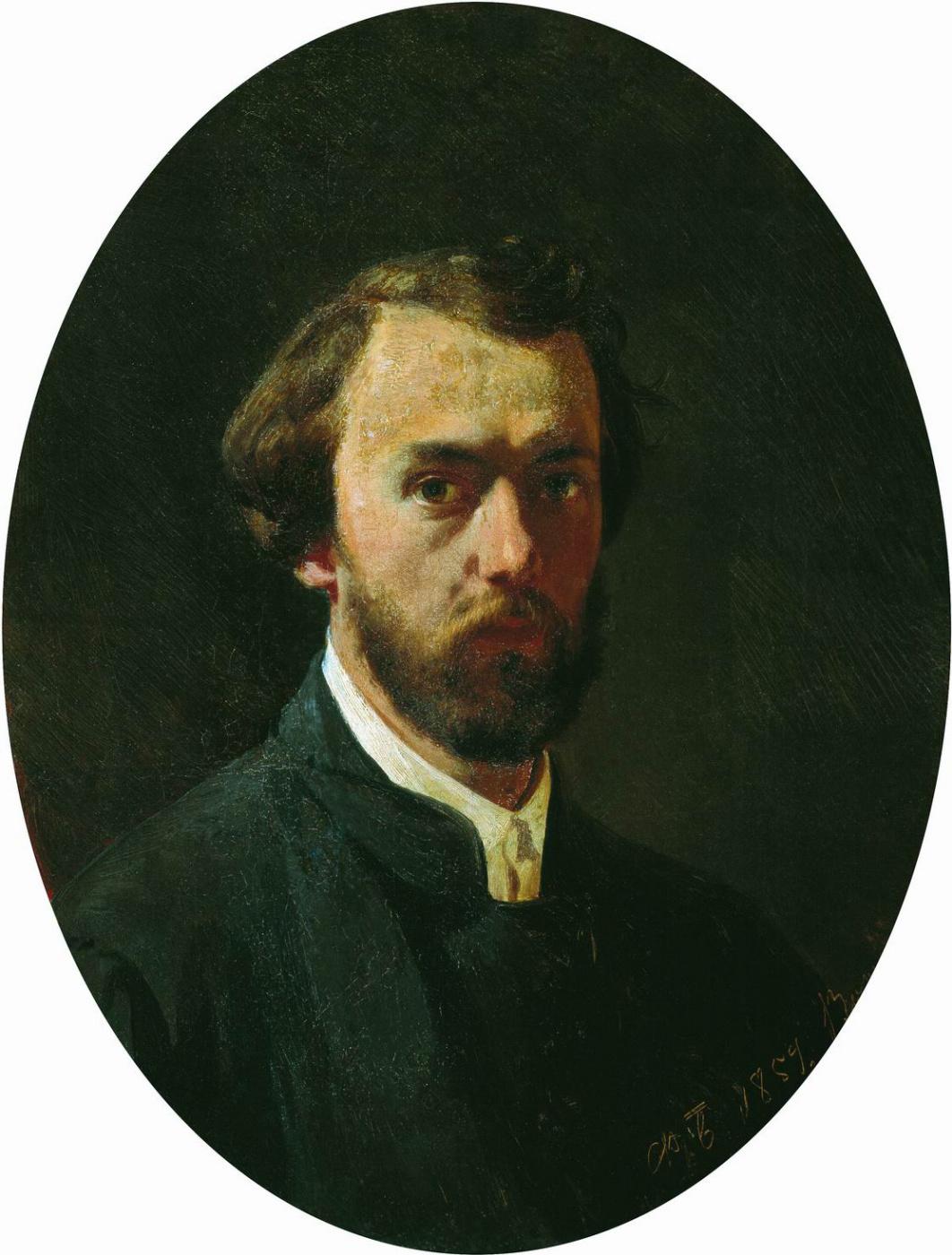 Fedor Andreevich Bronnikov. Self portrait. 1859