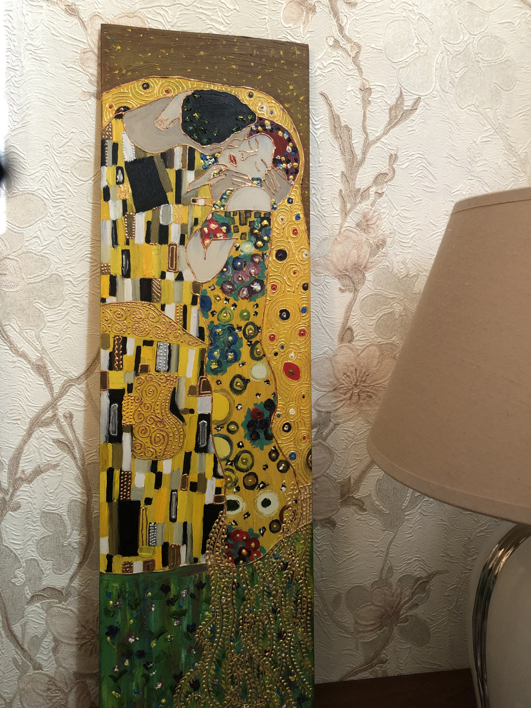 "Diana. Copy of G. Klimt ""Kiss"""