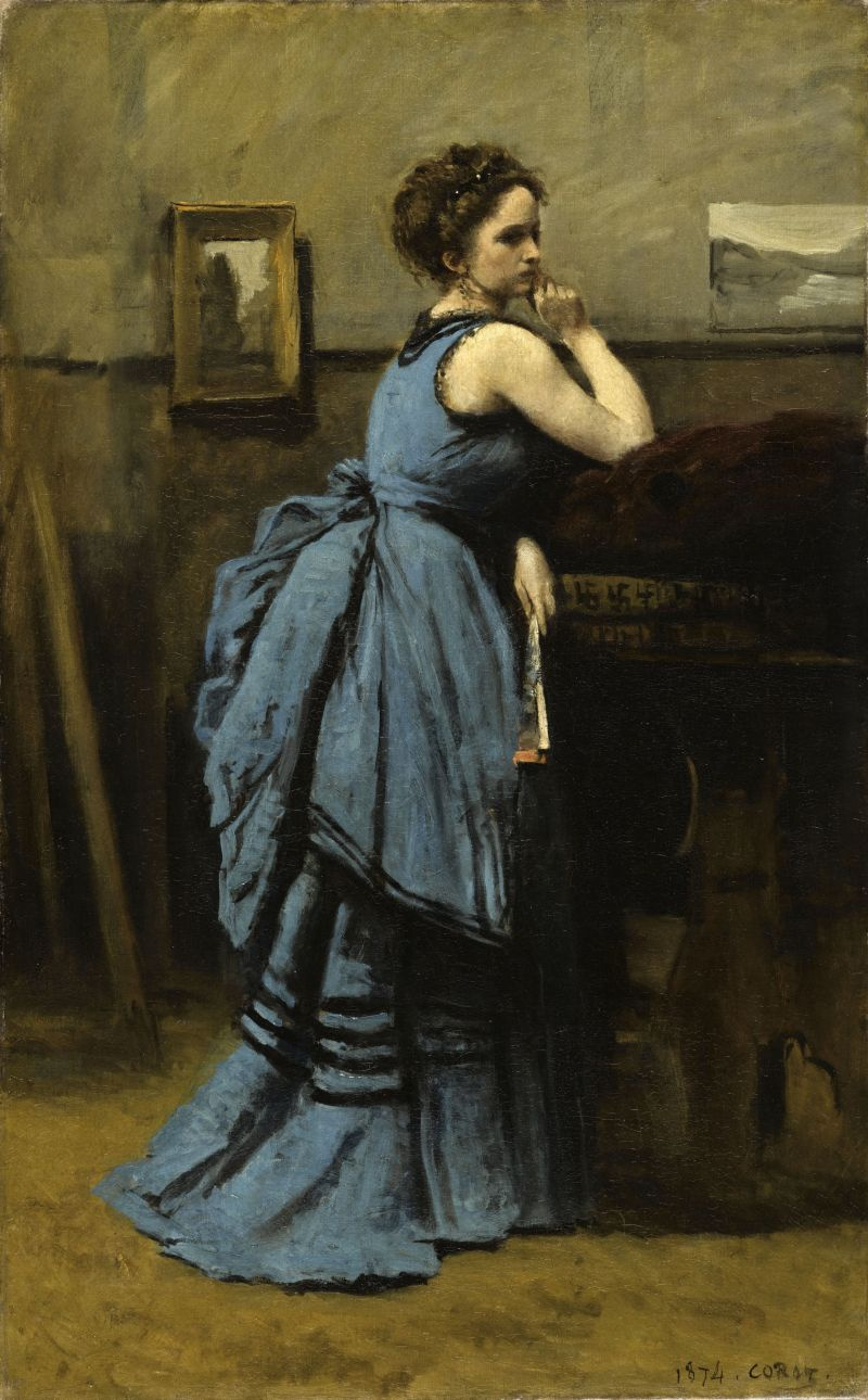 Camille Corot. The Lady in Blue