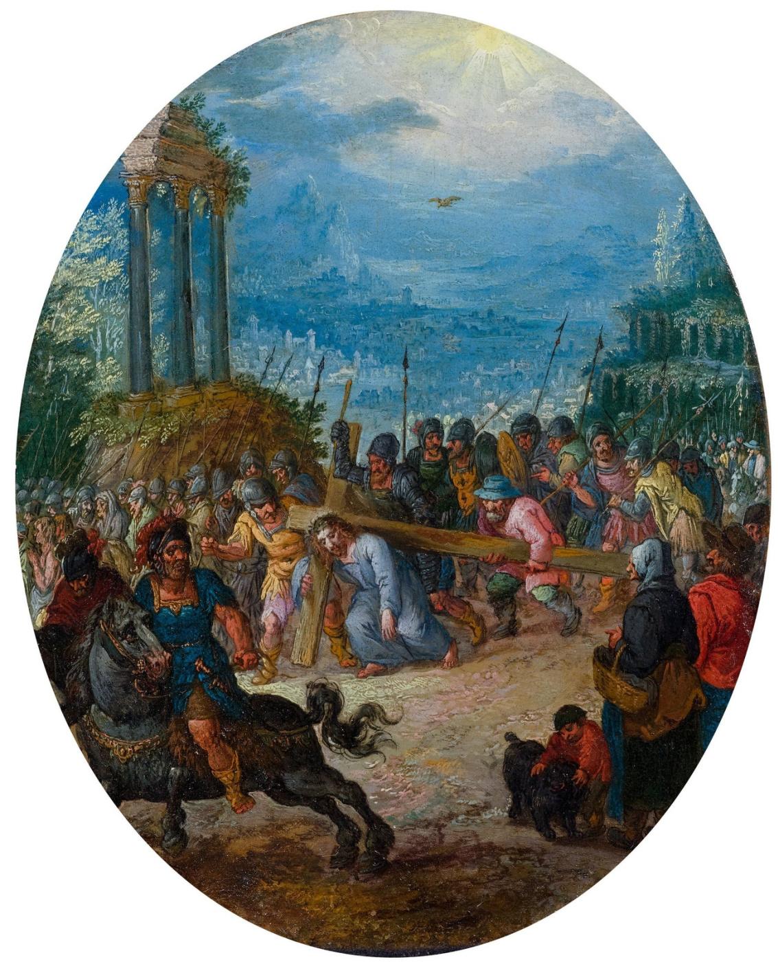 Jan Bruegel The Elder. Carrying the cross.