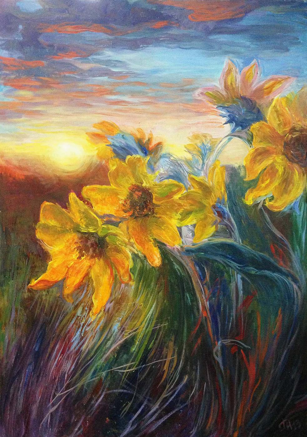 Gorelkina. Sunflowers