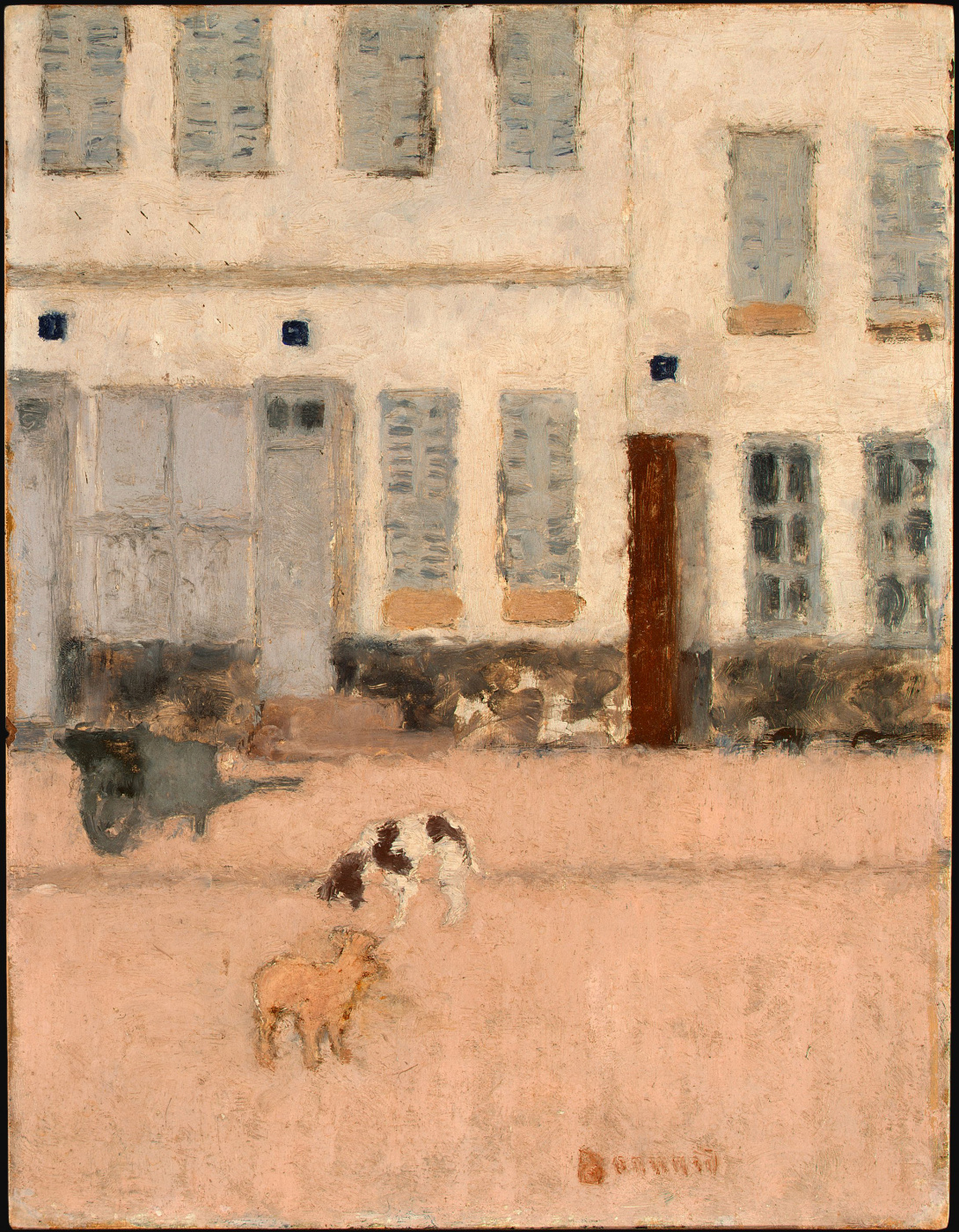 Pierre Bonnard. Deserted street and dog