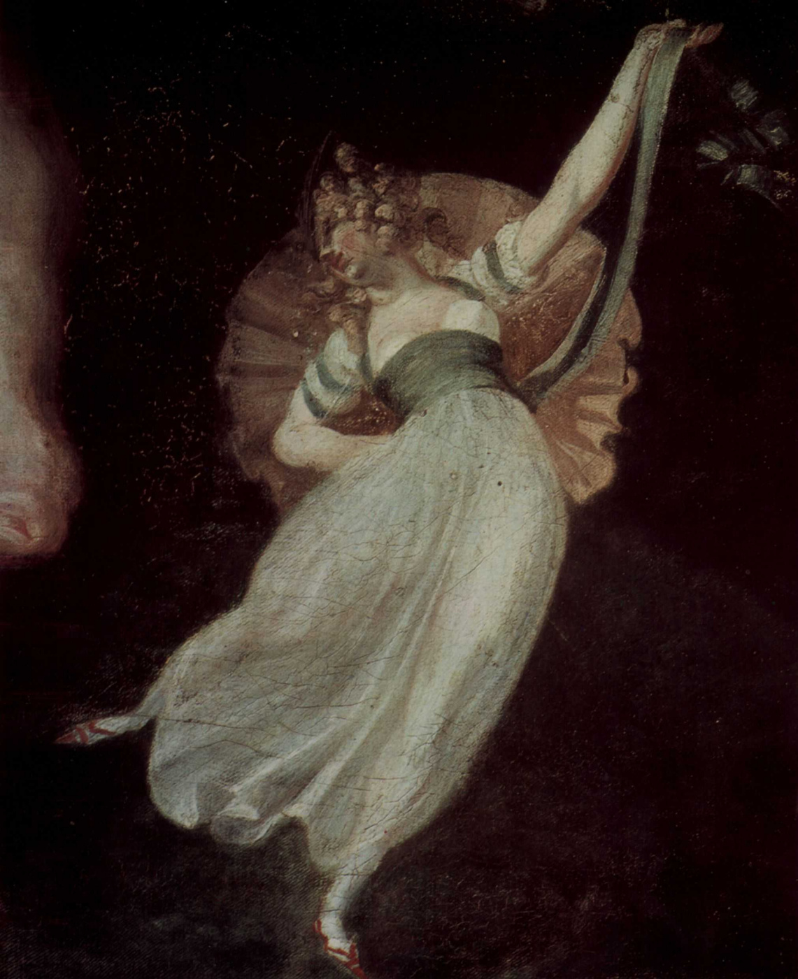Johann Heinrich Fuessli. The fairy Queen Titania and the Base, the weaver with an ass's head, detail: elf