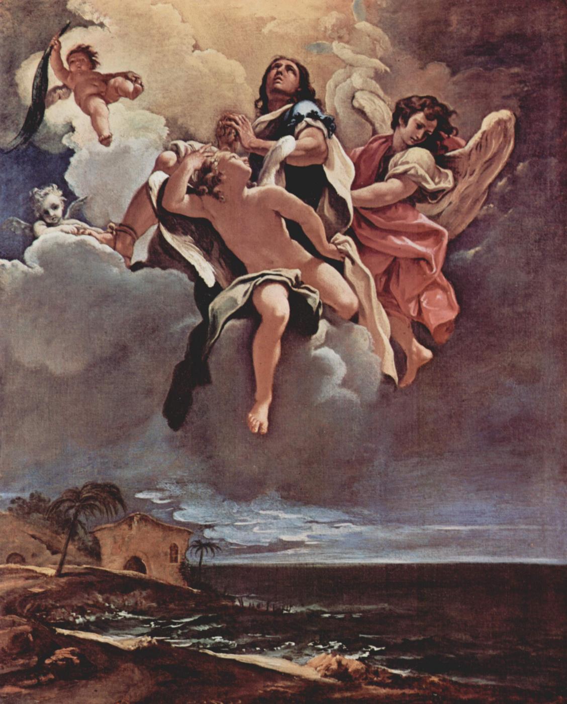 Sebastiano Ricci. The sketch for the fresco cycle in San Bernardino alle Ossa in Milan. The apotheosis of St.