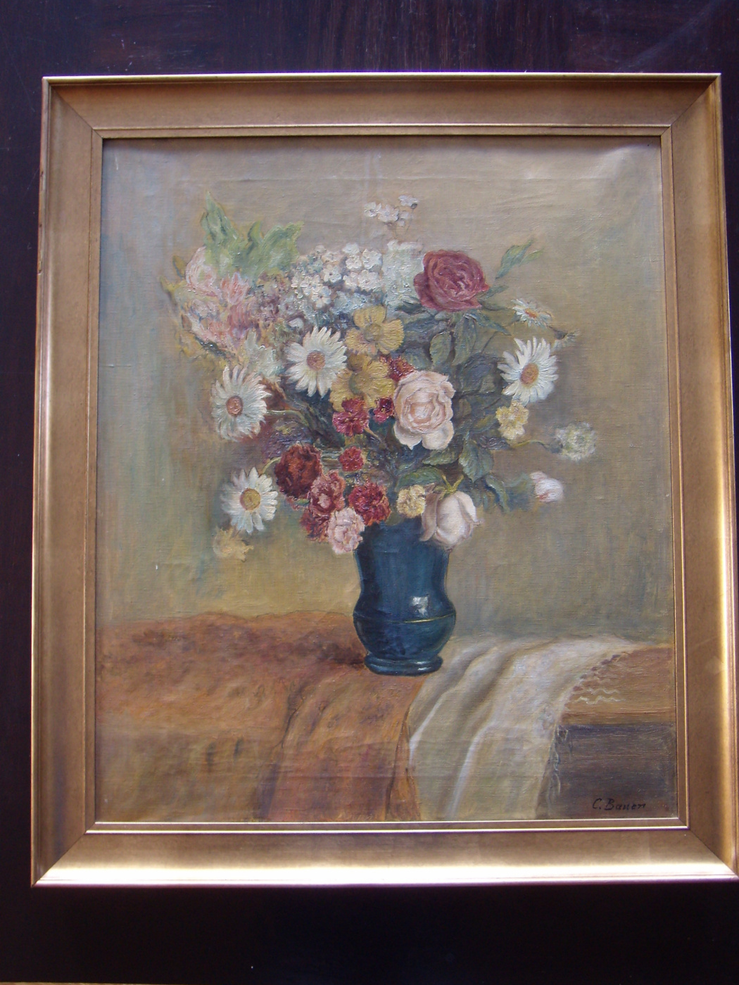 Unknown artist. Still life with flowers.