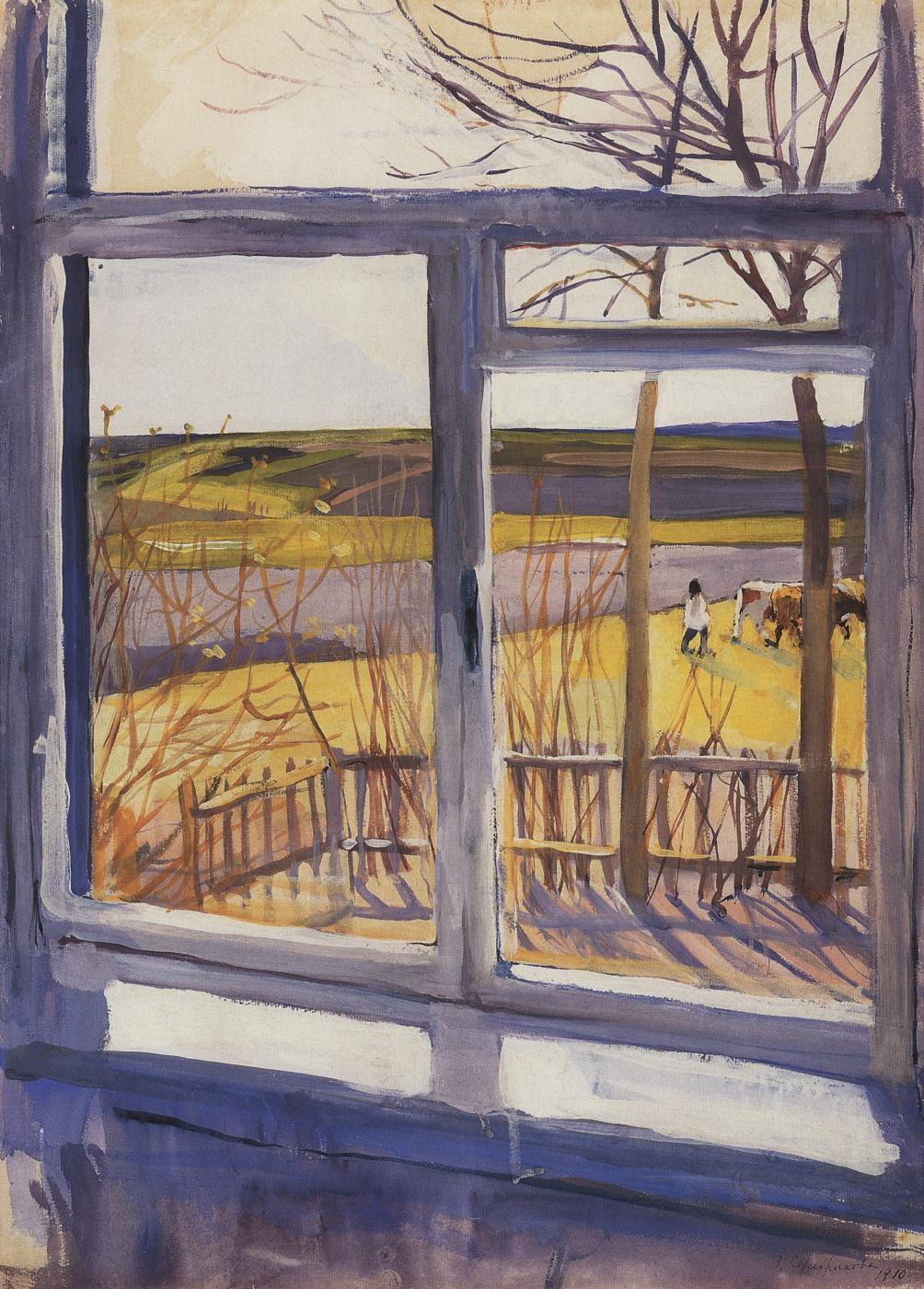 Zinaida Yevgenyevna Serebriakova. The view from the window. Boring.