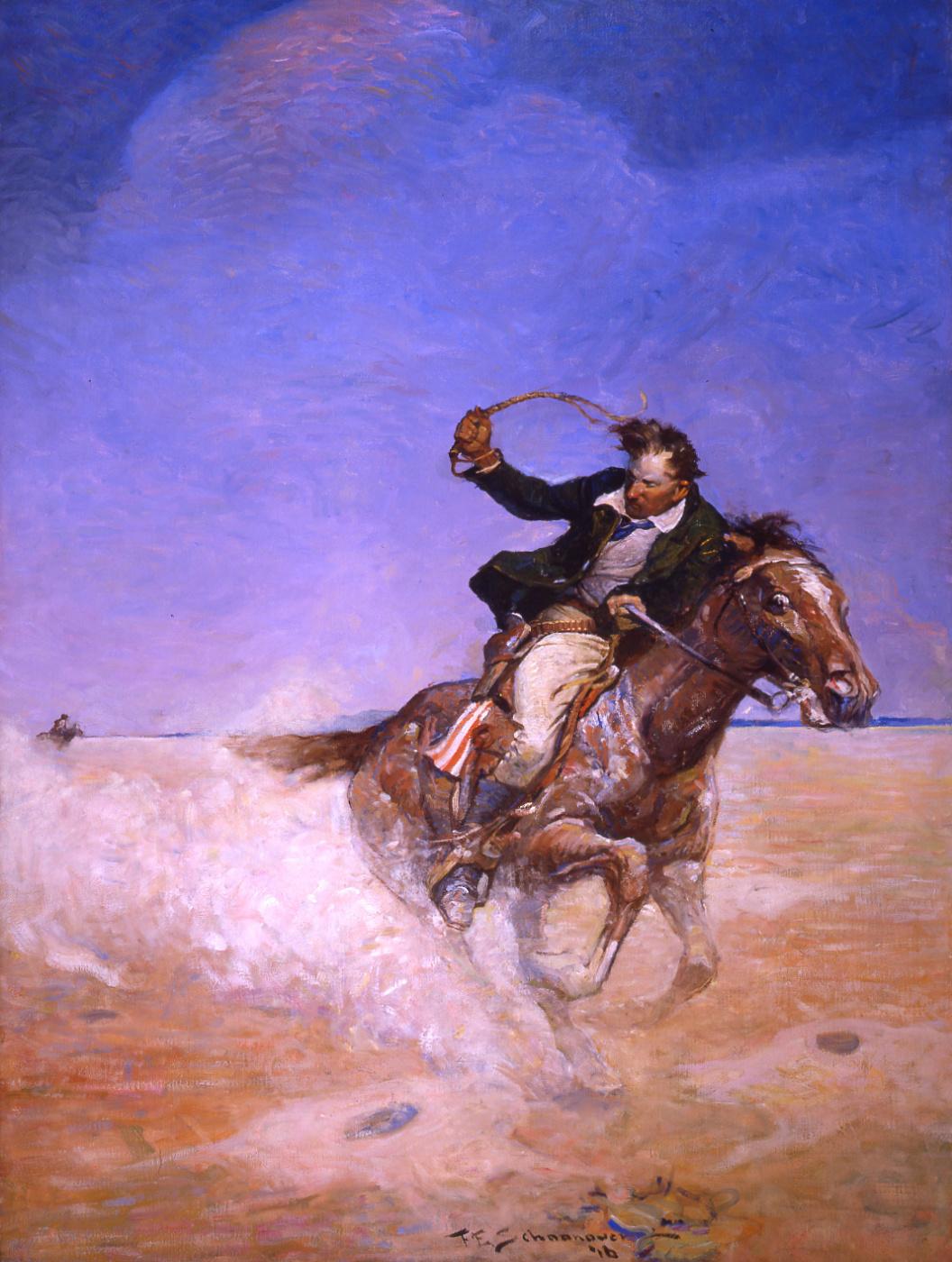 Frank Shunover. Abe Caterson chases Masten through the desert