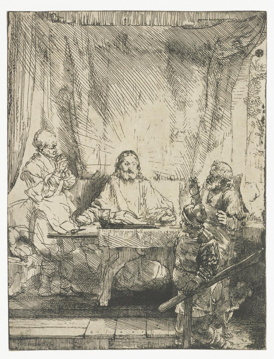 Rembrandt Harmenszoon van Rijn. Christ at Emmaus