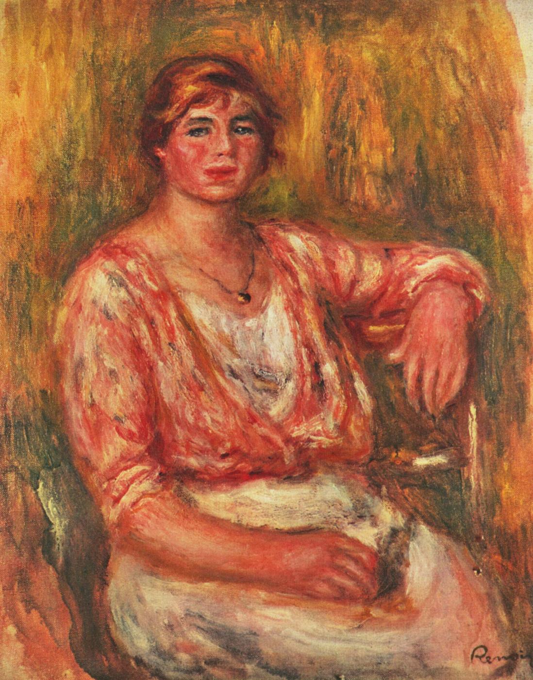 Pierre-Auguste Renoir. Milkmaid