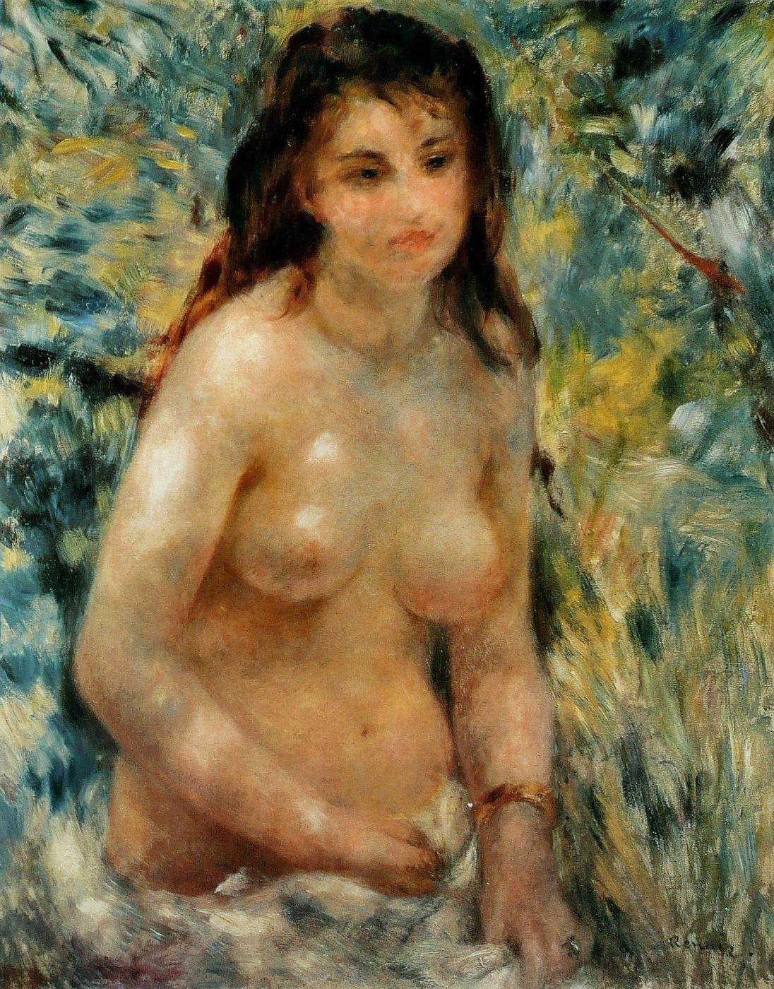Pierre-Auguste Renoir. Nude, the effect of the sun