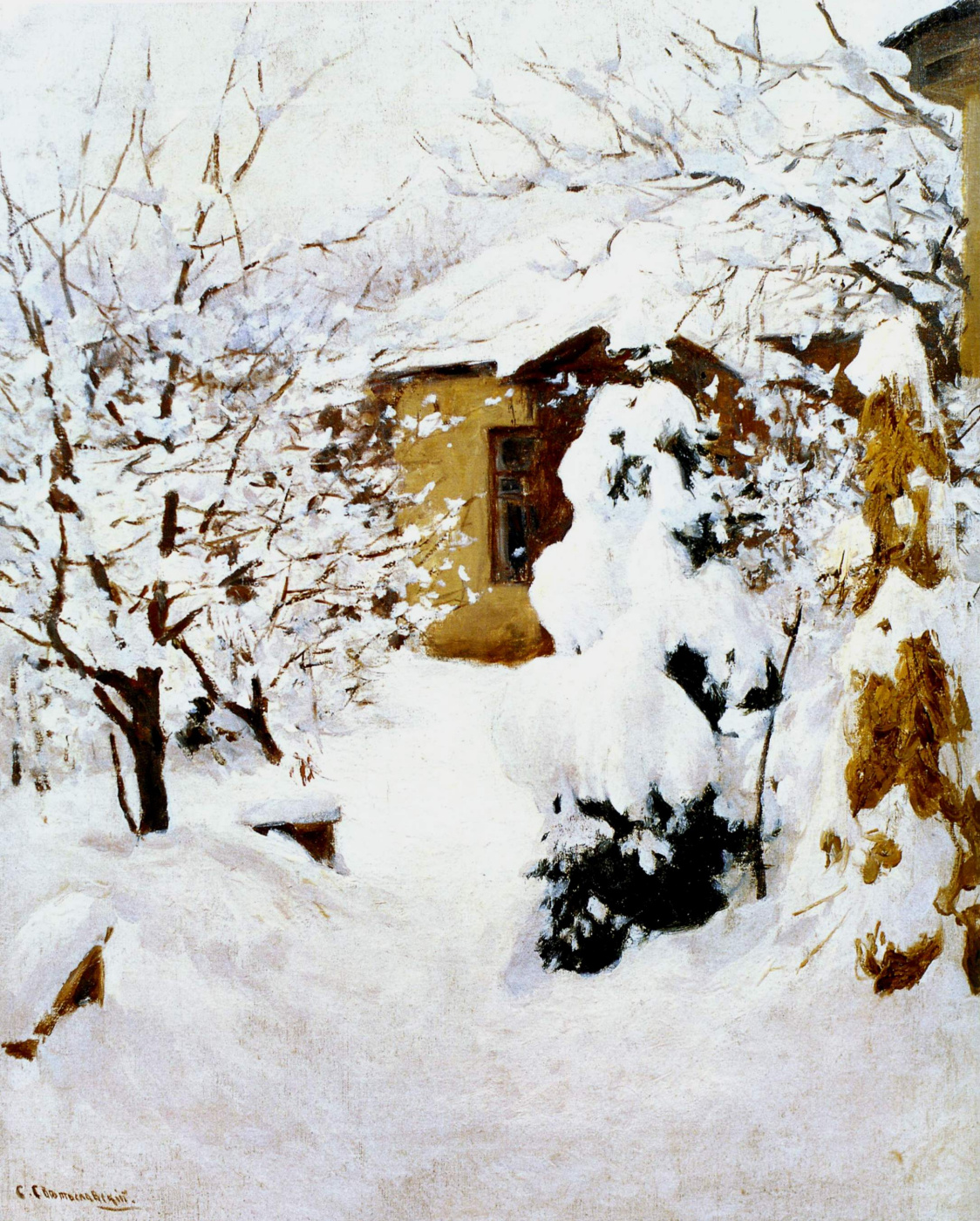 Sergey Ivanovich Svetoslavsky. Winter landscape. Manor of the artist. 1900s