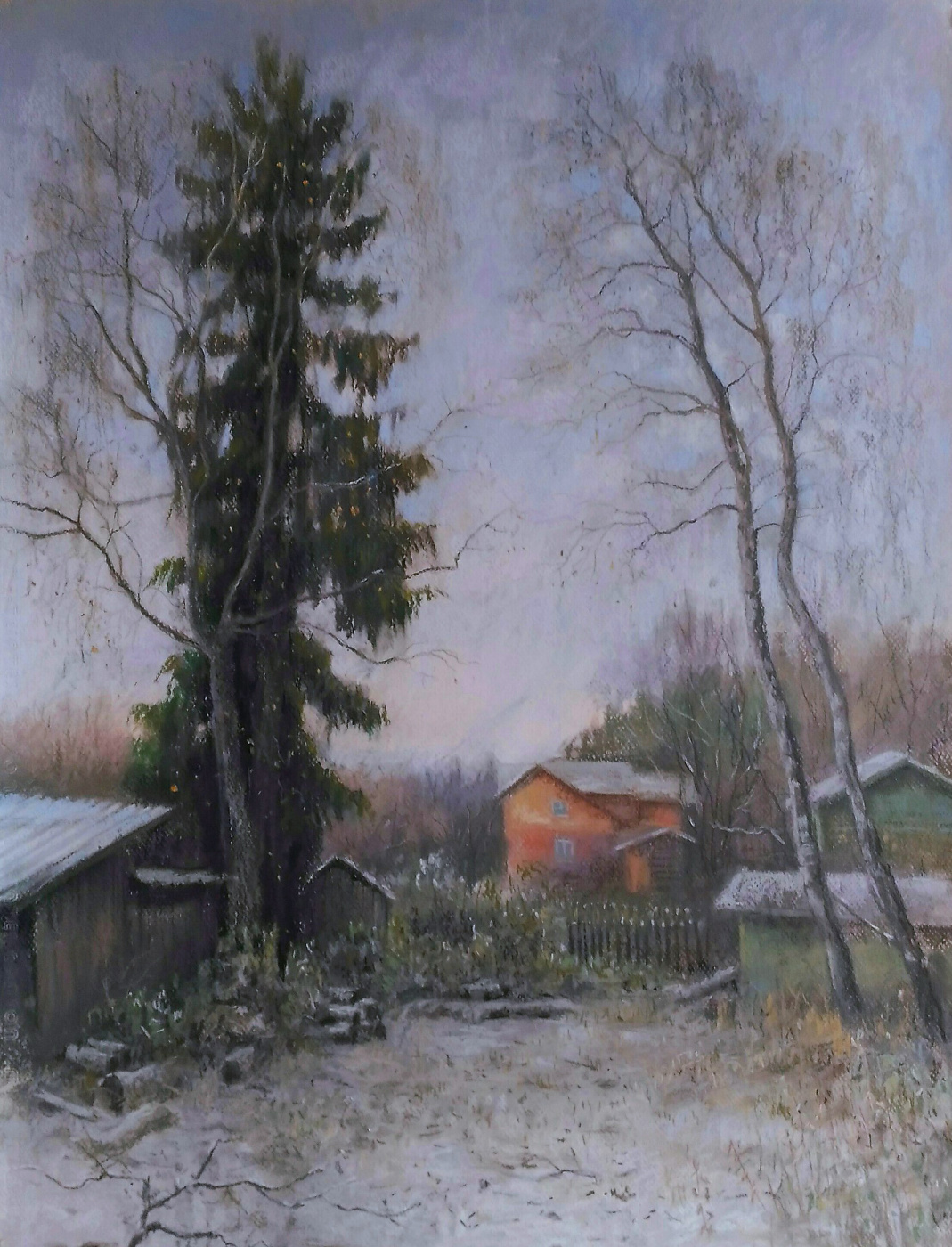 Ольга Акрилова. November in the village Solmanovo
