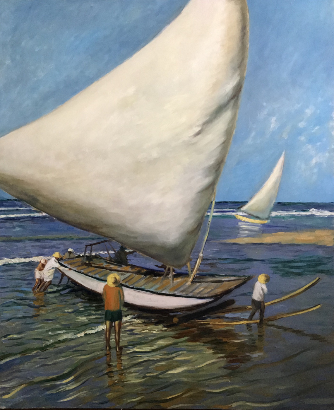 Aleksandre Vashakmadze. Sailboats