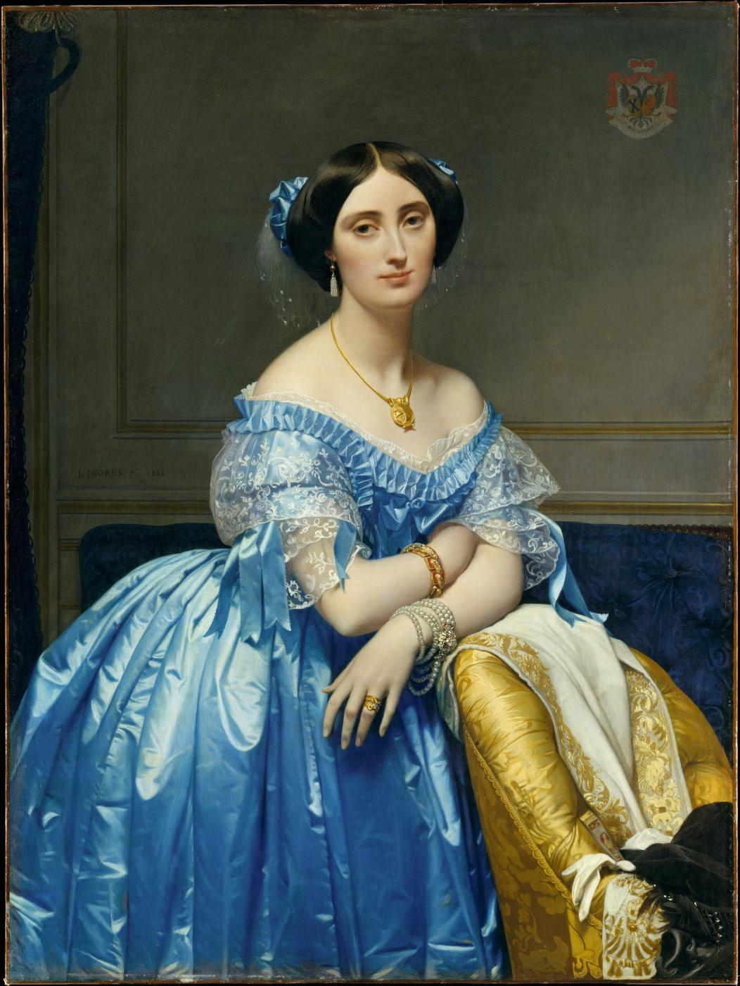 Jean Auguste Dominique Ingres. Josephine-Eleanor-Marie-Pauline de Galard Brassac de Bearn, Duchess of Broglie