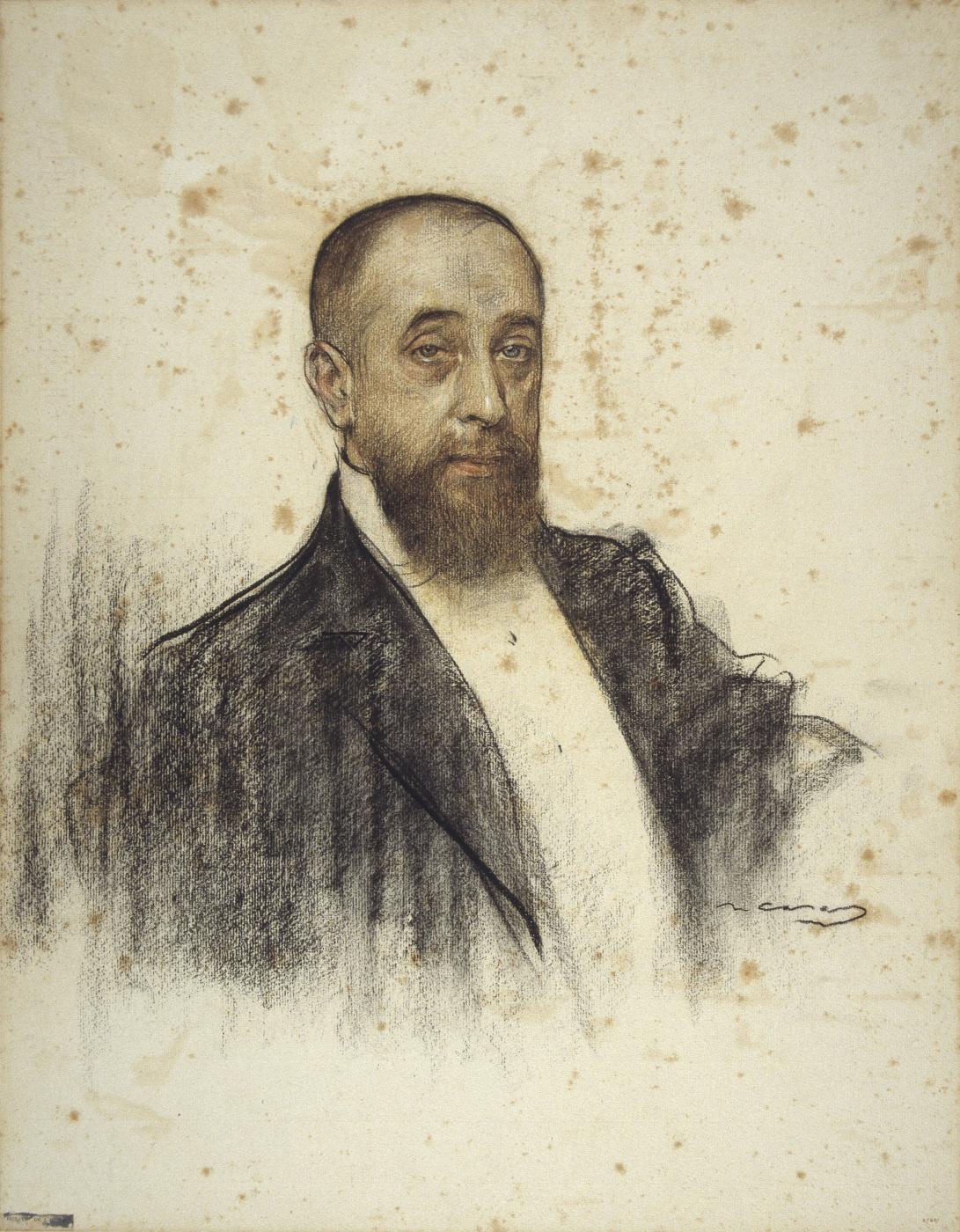 Ramon Casas i Carbó. Portrait of Frederick Rajola
