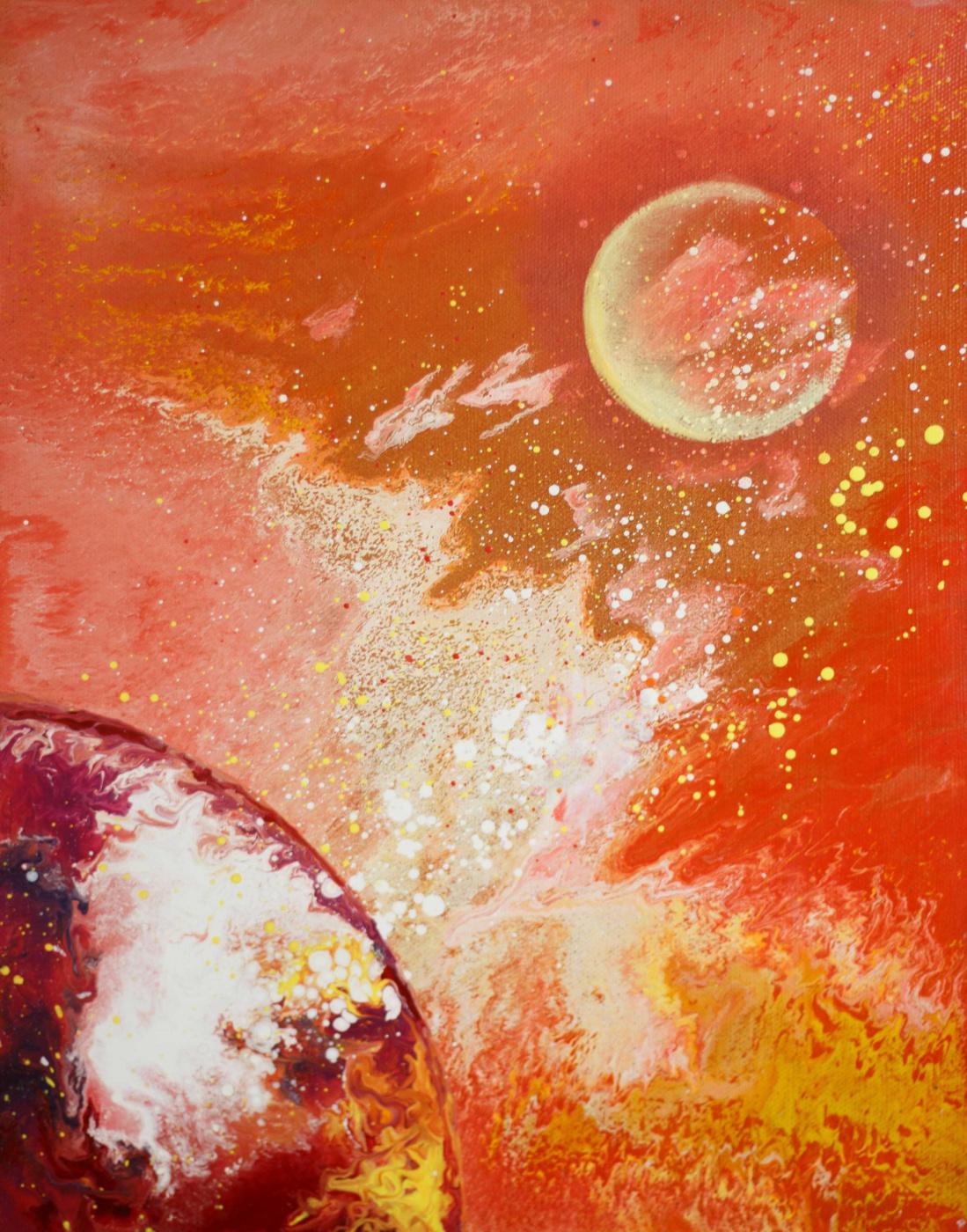 "Alla Struchayeva. Painting ""Sand Storm"""