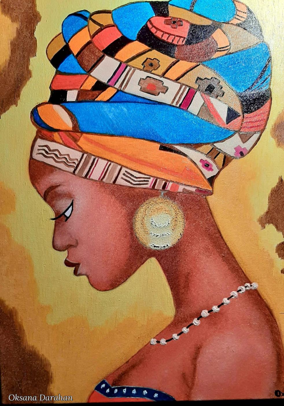 Оksana Darahan. Nigerian mother