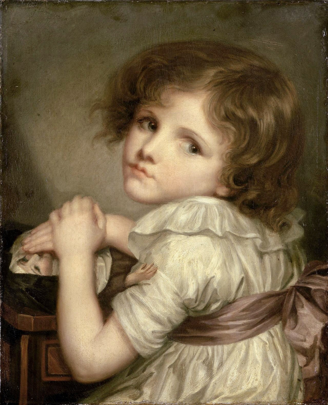 Anna-Genevieve Greuze. Child with a doll