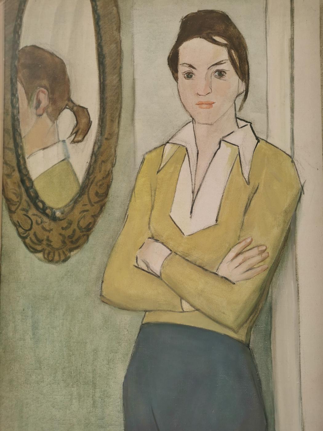 M. Thieme. Girl at the mirror
