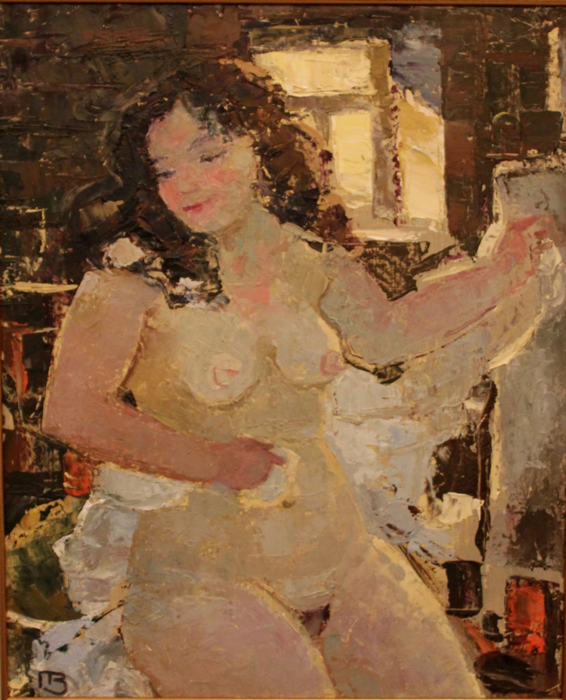 Valery Yurevich Pustoshkin. In the bathhouse