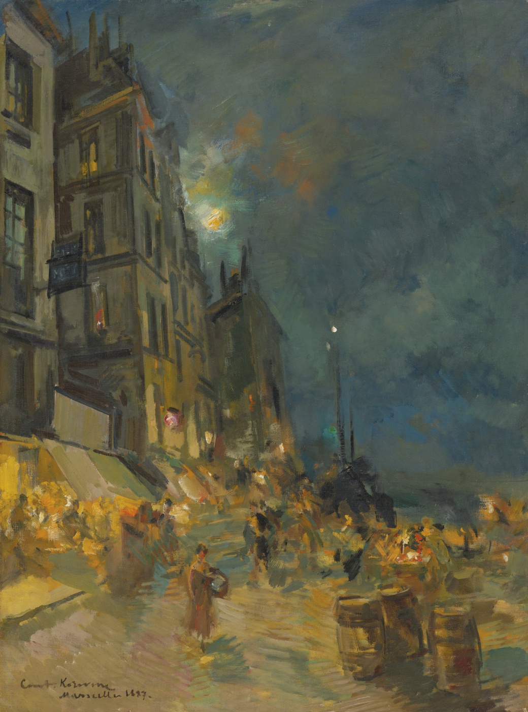 Abram Arkhipov. Night. Marseille Embankment