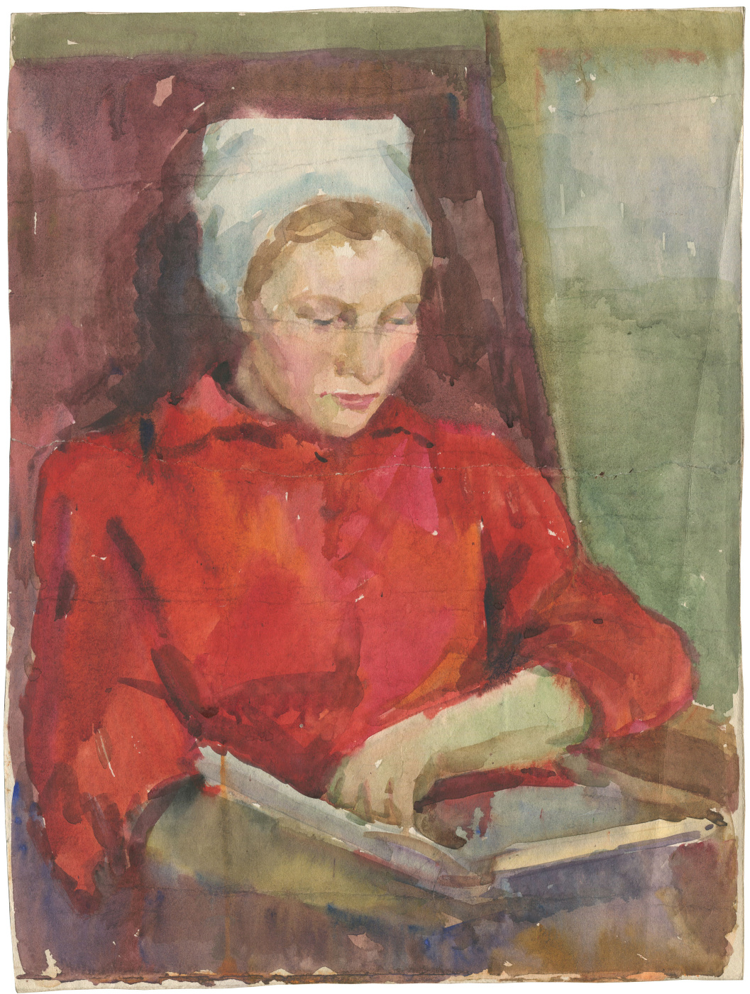Alexandrovich Rudolf Pavlov. Woman with a book.