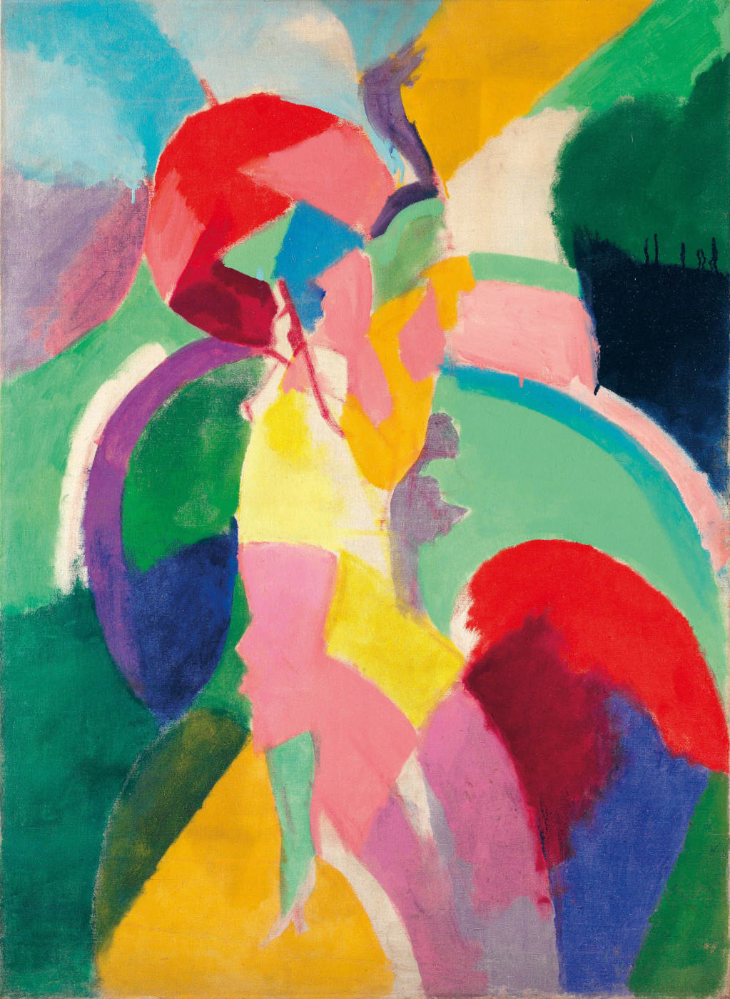 Robert Delaunay. The woman with the umbrella. (Parisienne)