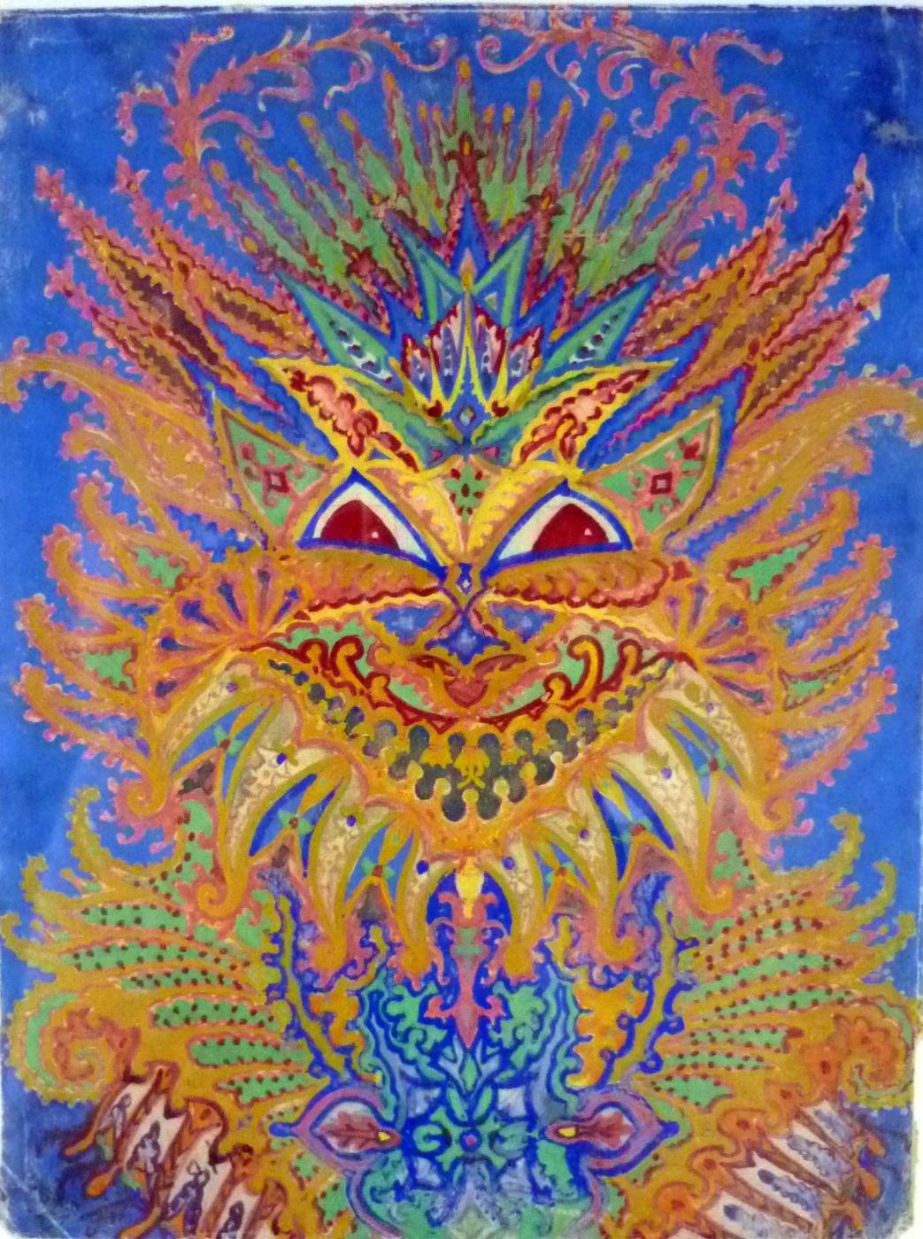 Louis Wain. Cat Kaleidoscope VI