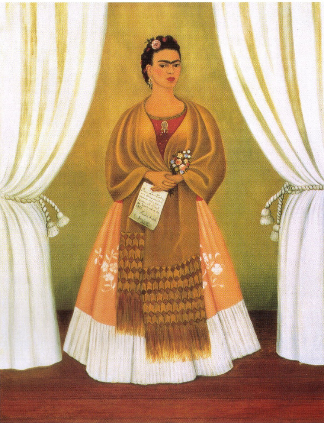 Frida Kahlo. Self portrait dedicated to Leon Trotsky