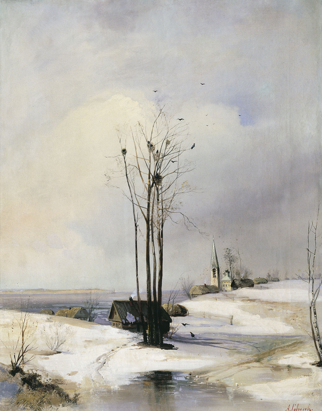 Alexey Savrasov. Early spring. Thaw