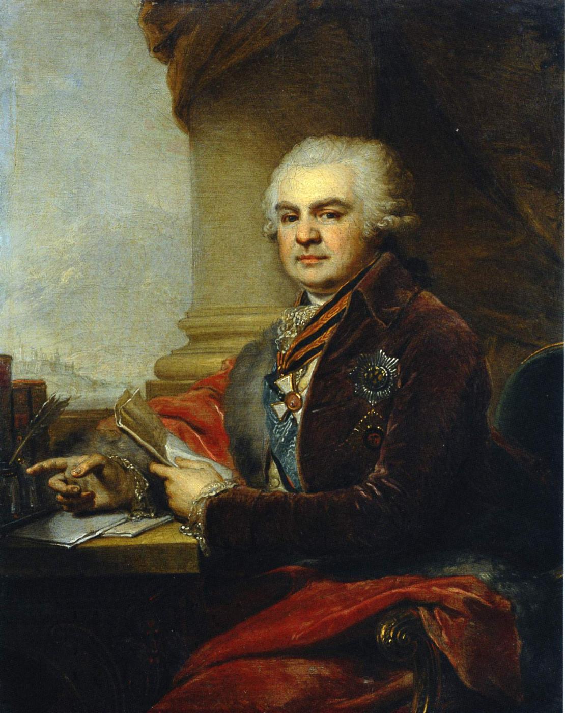 Vladimir Borovikovsky. Portrait of count A. N. Samoilov
