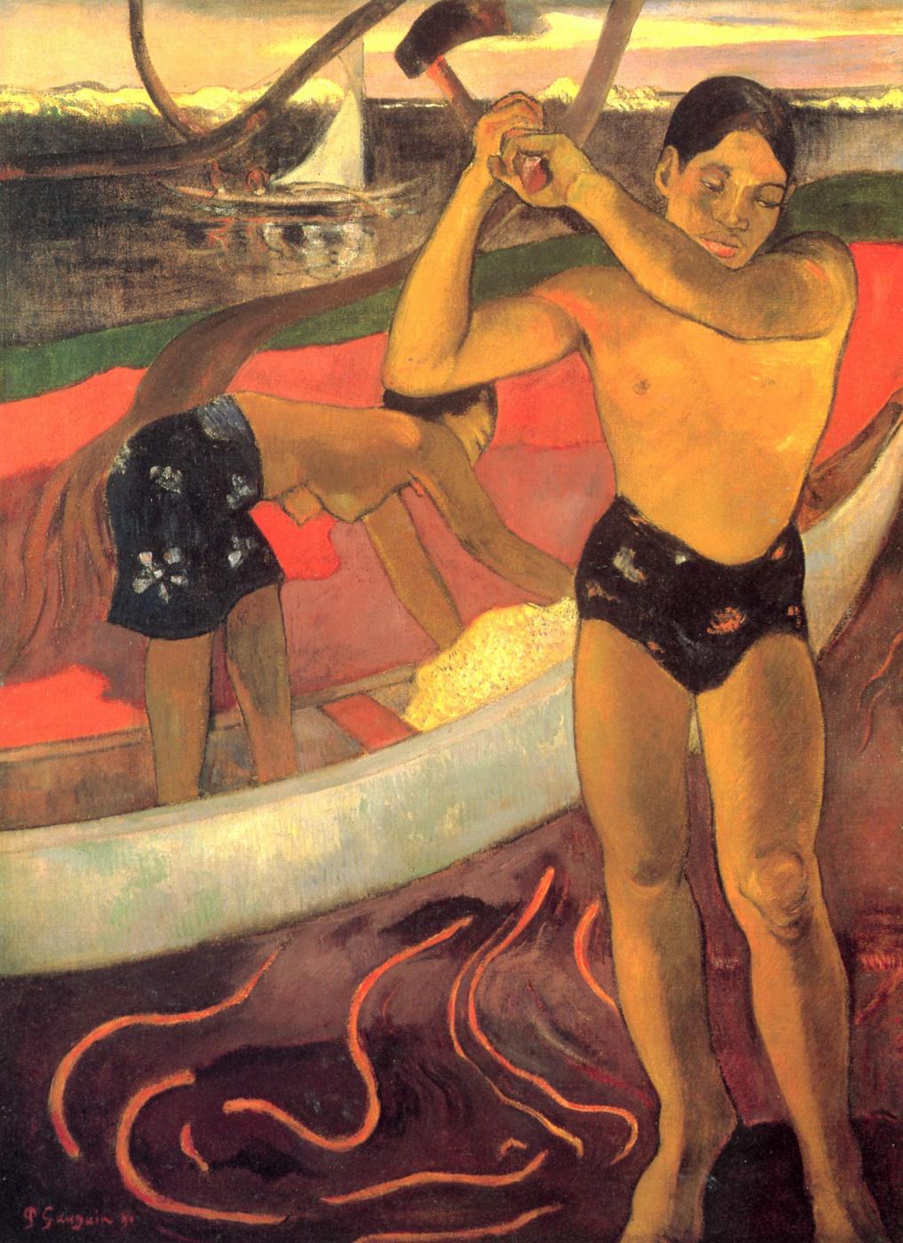 Paul Gauguin. A man with an axe