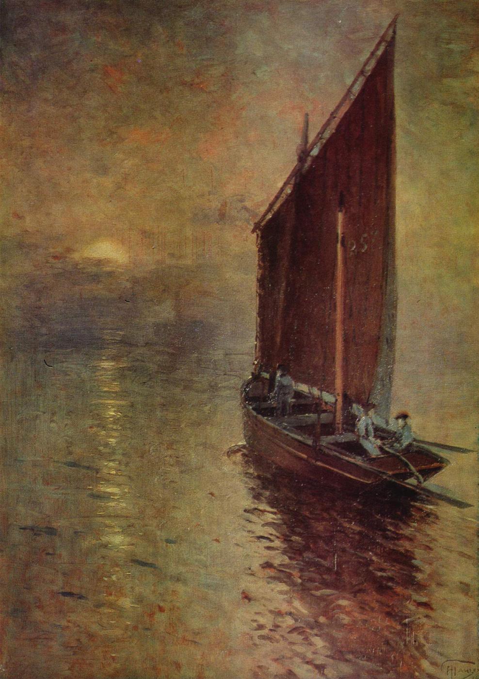Alexey Vasilyevich Ganzen. Moonrise