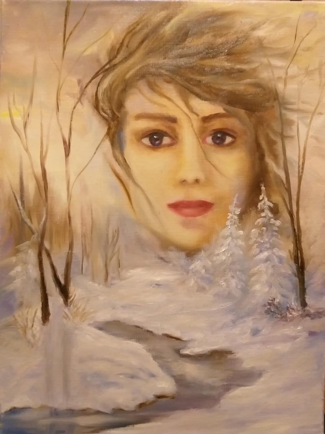 Валерия Костромина. Зима.  Девушка-февраль.