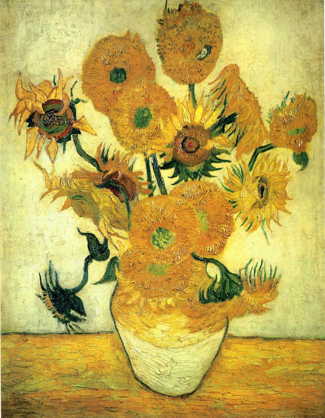 Vincent van Gogh. Sunflowers in a vase