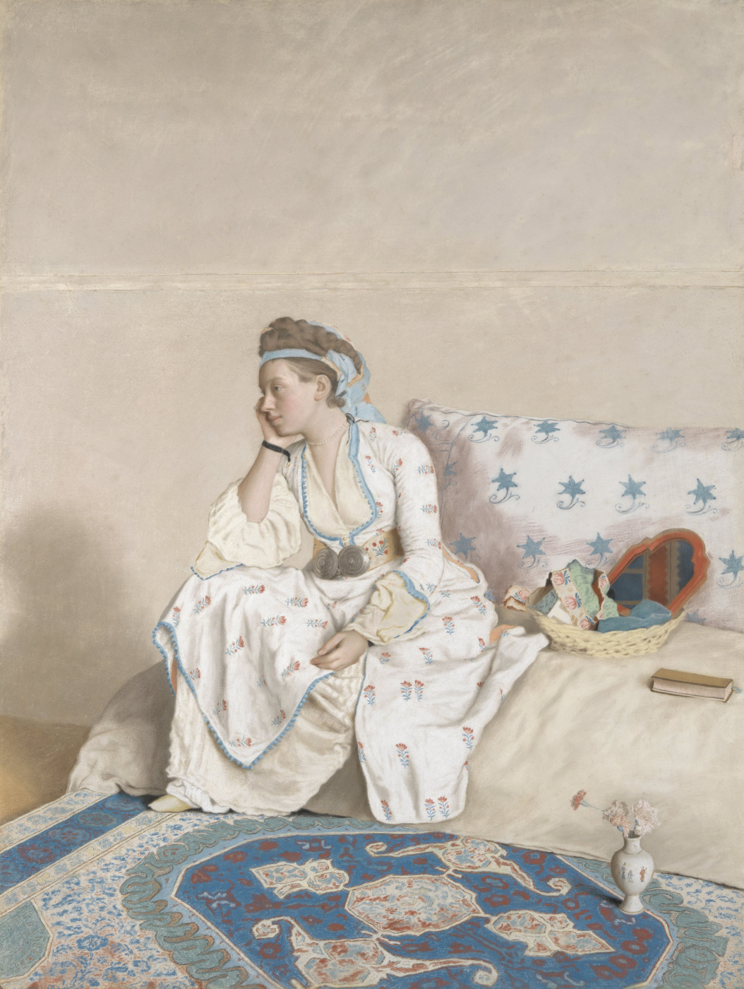 Jean-Etienne Liotard. Portrait of Marie Fargues, the artist's wife, in Turkish costume