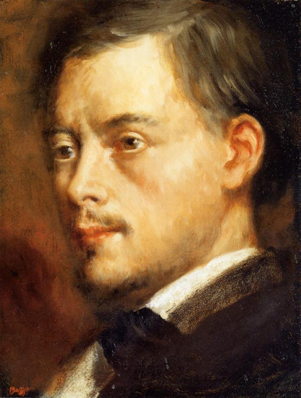 Edgar Degas. Head of a man