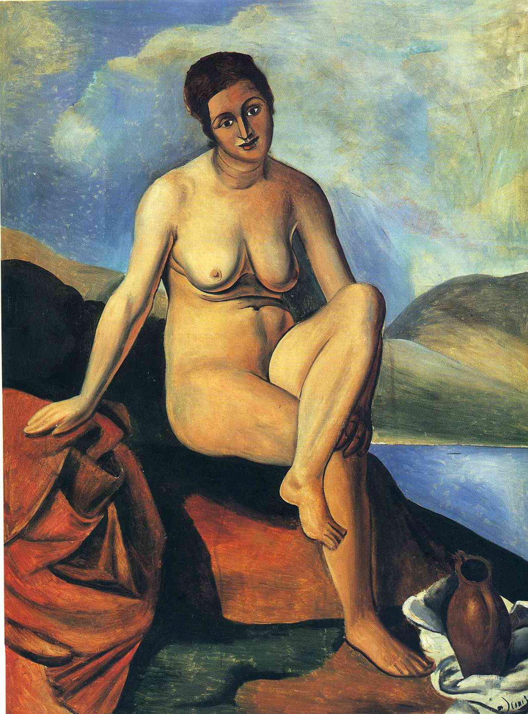 Andre Derain. Nude woman with pitcher