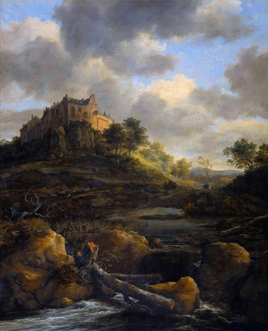 Jakob van Isaacs Ruisdael. Bentheim castle