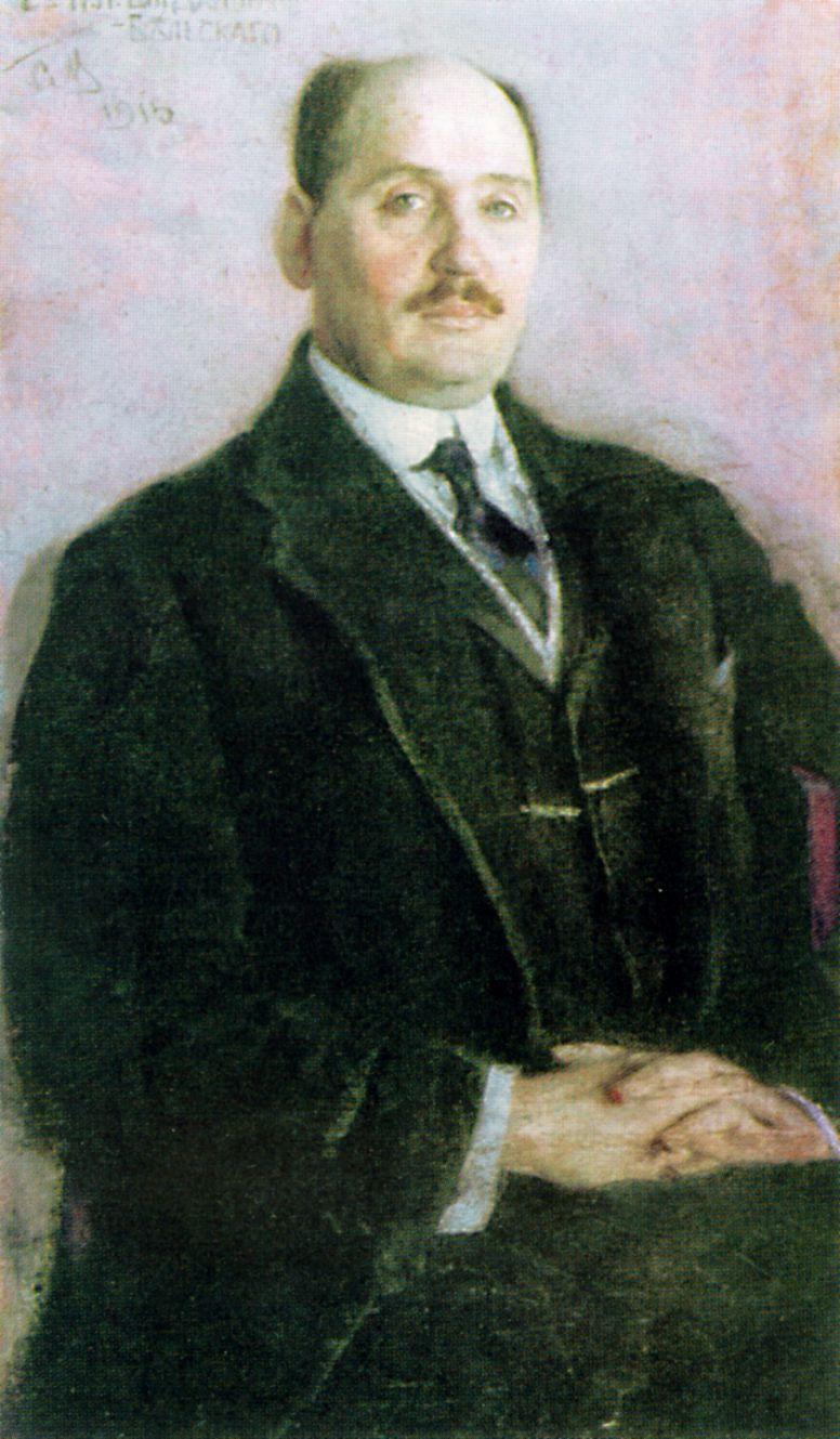 Sergey Vasilyevich Malyutin. Portrait Of N. P. Bogdanov-Belsky